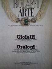 Bolaffi ARTE Gioielli Orologi edizione speciale 1978 vol.1  [C45A]