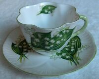 Shelley china England~Lily of the Valley cup and saucer set~Dainty shape-NR
