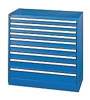 LISTA XSHS0900-0901 HS900 9-Drawer Counter Height Storage Cabinet, Shallow Depth
