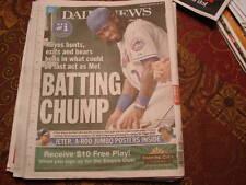 METS JOSE REYES 2011 BATTING CHAMP NEWSPAPER DAILYNEWS 9/29/11 AROD JETER POSTER