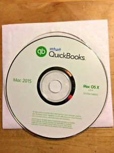 INTUIT QUICKBOOKS 2015 FOR MAC OS X MACINTOSH 10.9 - 10.14 • CD + SERIAL NUMBER