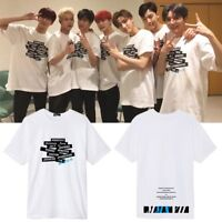 KPOP MONSTA X T-Shirt Christmas Party Concert Tshirt Casual Tops Letter Tee