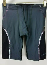 Speedo men power plus compression lazer fitted jammer swim shorts size S