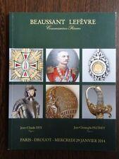 Catalogue de Vente Souvenir Historique Arme Ordre de Chevalerie Jeux Olympiques