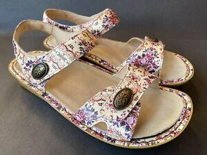 Alegria VIE-880 Vienna Floral Print Leather Sandals, Size 40 EU
