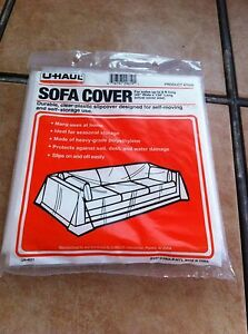 """Durable Clear Plastic Sofa Cover for Sofas up to 8ft Long 42"""" Wide x 134"""" Long"""