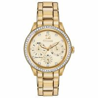 Citizen Eco-Drive Women's FD2012-52P Silhouette Crystal Accents Gold Tone Watch