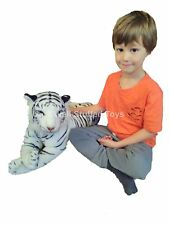 """White Tiger Plush Soft Toy Large Medium 100cm 40"""" with tail 70cm without"""