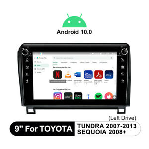 For Toyota Tundra 07-13 9 Inch 1280*720P Android 10 Car Stereo SWC DSP 5GHz WiFi