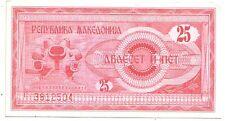 Macedonia  25 denari  1992   FDS  UNC    pick 2    lotto 3322