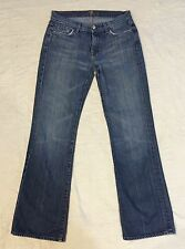7 For All Mankind Bootcut Jeans Women's 31/32.5  Msrp: $198 Med/Light Wash Clean