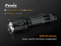 Fenix TK25UV Weiß + UV LED Taschenlampe inkl. 2x CR123A Batterien