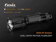 Fenix TK25UV White + uv LED Flashlight Incl. 2x CR123A Batteries