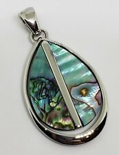 "Silver with Genuine Abalone Charm Lia Sophia ""Chameleon"" Slide Pendant"