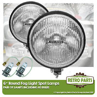 "6"" Round Fog Spot Lamps for Mini. Lights Main Beam Extra"
