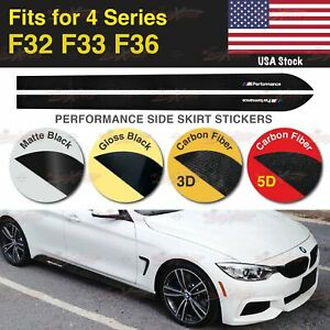 M Performance Side Skirt Vinyl Decal Stickers for BMW F32 F33 F36 4 Series US