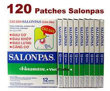 120 Patchs Salonpas (10x12) / Soulagement Douleurs DOS, MUSCLES, ARTICULATIONS