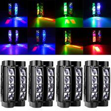 4PCS 8x 10W RGBW LED Spider Beam Moving Head Stage Light Disco DJ Party Lighting