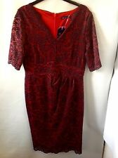 Twiggy For M&S Collection Floral Lace Layered Dress Size: 12
