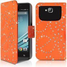 Etui Diamant Universel XL orange pour Wiko Lenny 4 Plus