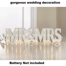 Ideal for weddings or engagements Mr & Mrs LED Light Up Words - Great Gift Idea