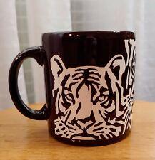 Vintage Waechtersbach Dark Brown Coffee Mug Cup Tiger W Germany
