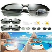 Photochromic Polarized Sunglasses Transition Lens Outdoor Driving Sports Glasses