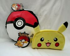 "POKEMON BALL GRAPHIC 8.5"" LUNCH BAG LUNCH BOX+PIKACHU EARS PENCIL CASE-BRAND NEW"