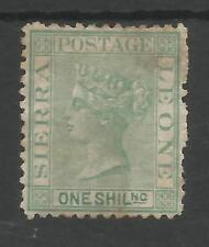 SIERRA LEONE SG10 THE 1872-3 QV 1/- GREEN P.12.5 WAT SIDEWAYS MOUNTED MINT C£500