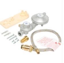 Single LPG Cylinder Regulator Kit Home Caravan 160MJ Stainless Tail 450mm PART N