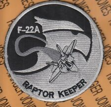 "USAF Air Force F-22A RAPTOR KEEPER 3.75"" patch"