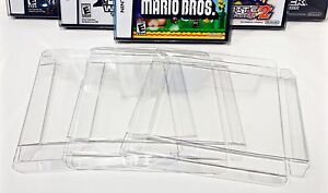 25 Box Protectors For NINTENDO DS Video Games (NTSC ONLY,  NOT PAL) Clear Cases