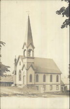 Mechanicsville VT Methodist Church c1910 Real Photo Postcard
