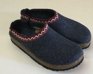 Softwaves Damen Hausschuhe Pantoffeln Filz  grau