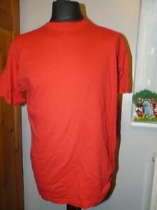 FRUIT OF THE LOOM mens/boys red t-shirt, short sleeved, uk size large