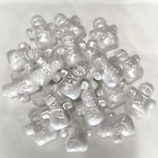 10 x White Pearl Snowman Bead Charms, Plastic Charms Baby Shower, Dummy Clips