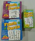 Math flashcards LOT of 3 Division Multiplication Addition cards boxed homeschool
