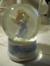 "AVON Enesco  Precious Moments Angel Musical Snow Globe ""Joy to the World"" 1996"