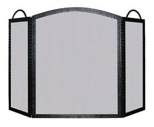Melton Craft 3 New Iron Mesh Fire Place Screen Panel Shield Guard 83cm x 130cm