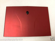 GENUINE Alienware M14x RED LCD Back Cover No Hinges (02) P/N C44HY