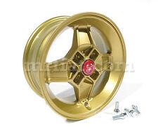 Fiat 850 124 128 X1/9 A112 Gold Finish Cromodora CD30 Wheel 5.5 x 13 New