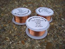 3 BOBBINS OF COPPER WIRE 0.4mm 0.6mm 1.0mm NON TARNISHING - craft wire -