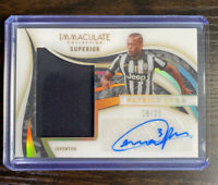Patrice Evra 2020 Panini Immaculate Superior Patch Autograph /25 - Juventus ⚽️