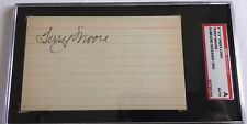 Terry Moore Signed 3x5 Index Card Slabbed SGC