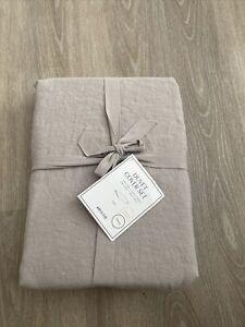 H&M Home Linen Duvet Cover Set Single New Grey