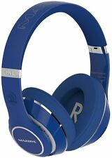 Massive Audio Blue Bluetooth Flex Extreme Bass Beats Headphones High End New