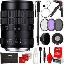 "Oshiro 60mm f/2.8 Lens for Nikon DSLR w/ 72"" Photo / Video Monopod & Accessories"