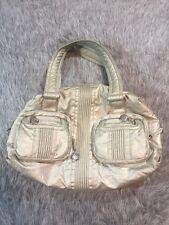 Kipling Silber Metallic Katie Schultertasche Handtasche Reißverschluss Fächer Doppel Riemen
