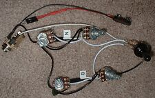 EMG Solderless EZ-INSTALL Wiring KIT Gibson SG 2Active PU 2V 2T 3Way SilverBLACK