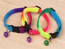 Adorable Rainbow Collar With Small Bell for Pet Cat Dog Adjustable Collar Best